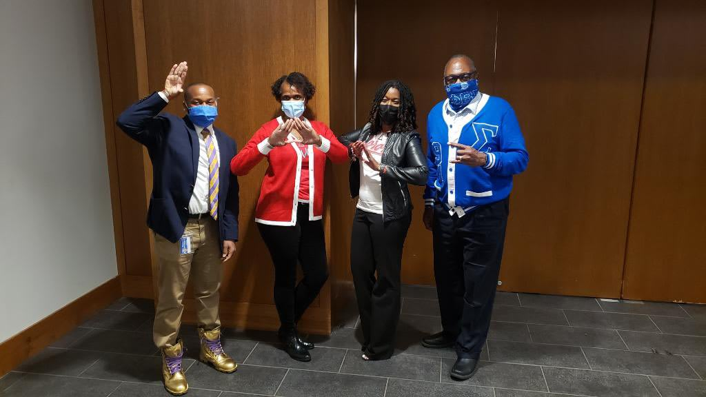 From left to right: Donell Thompson, Tangie Mason, Dr. Stephanie Dennis, and Johnnie Foreman.