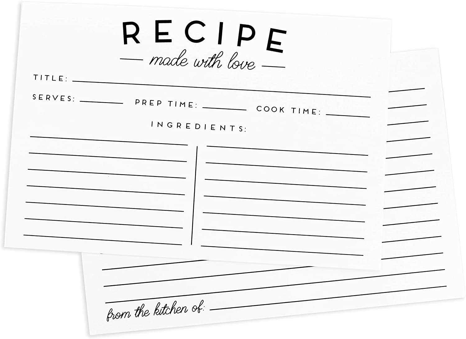 Image of a Recipe Card
