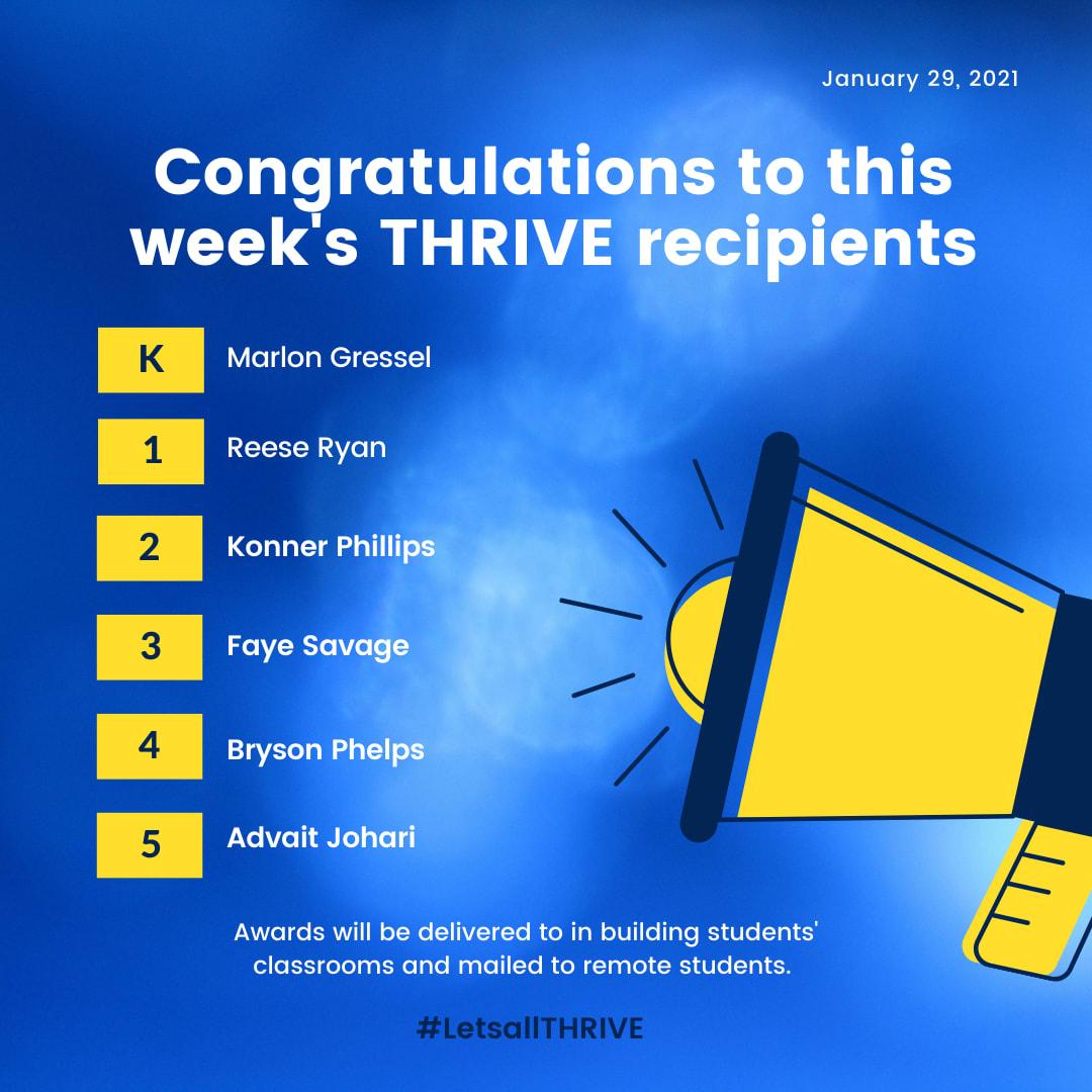 thrive recipients