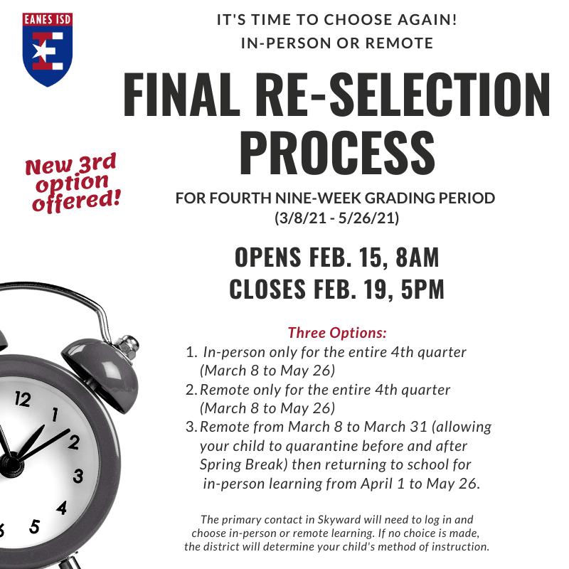 Final Re-Selection Process