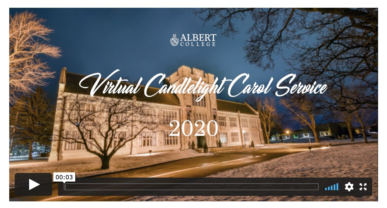 The Traditional Candlelight Service at Albert College