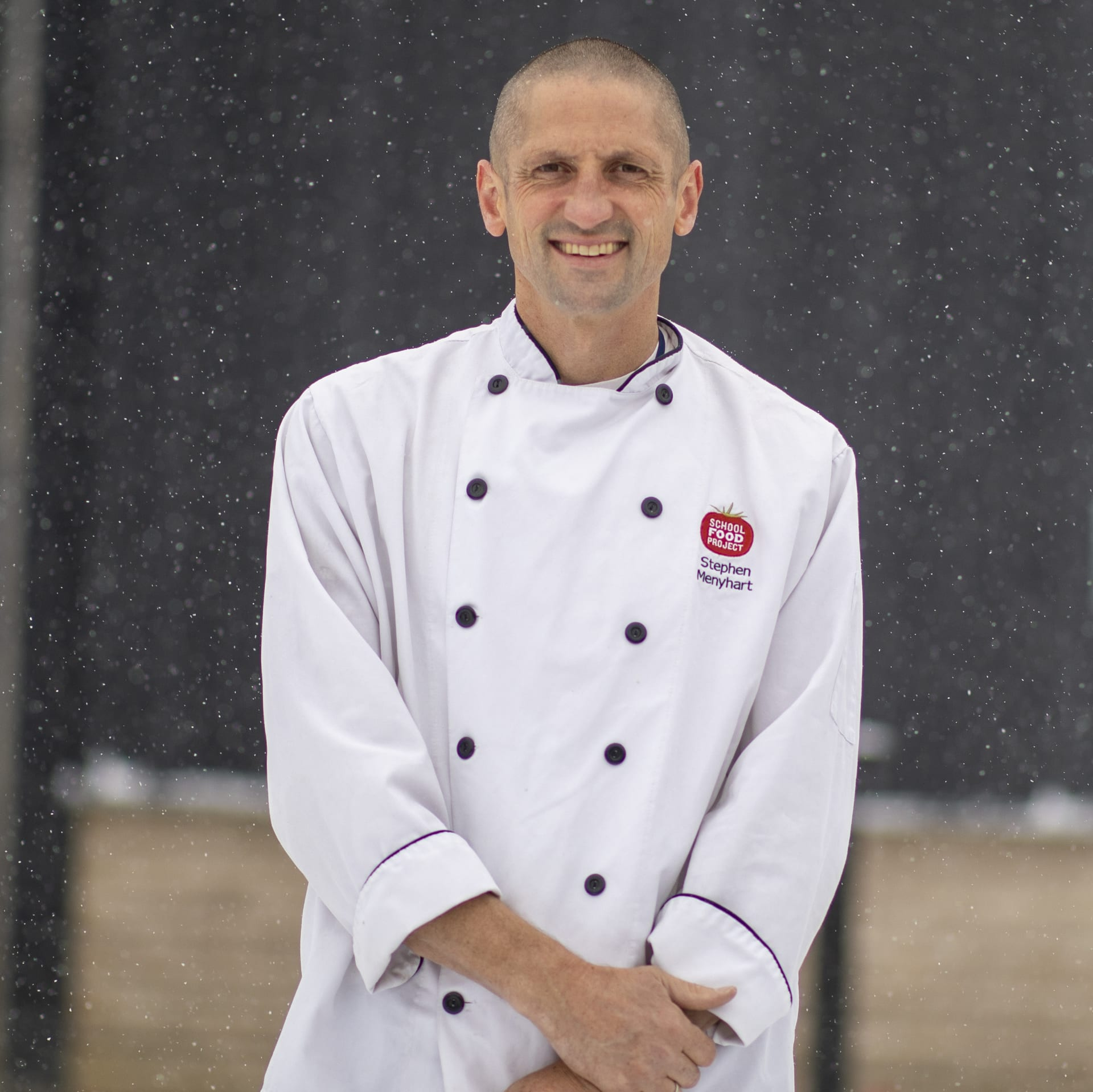 Chef Stephen outside the BVSD Culinary Center