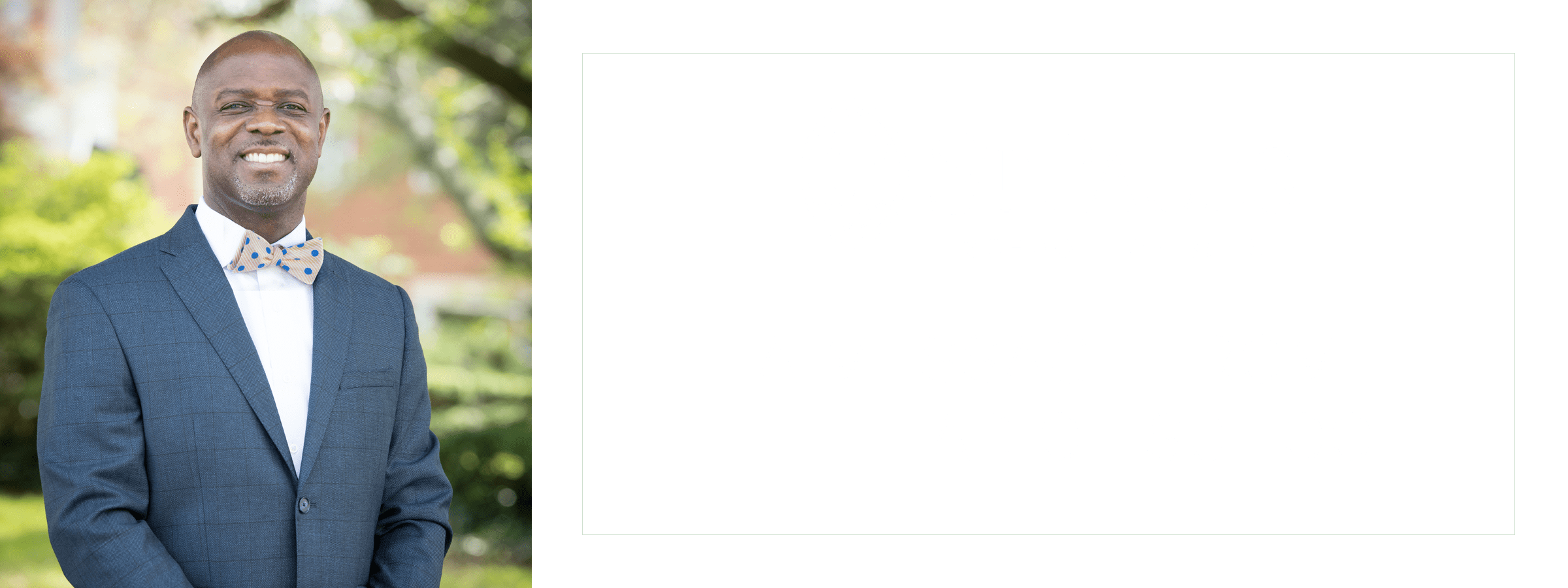 Headshot of Dr. Trusty that says A Message from the Head of School