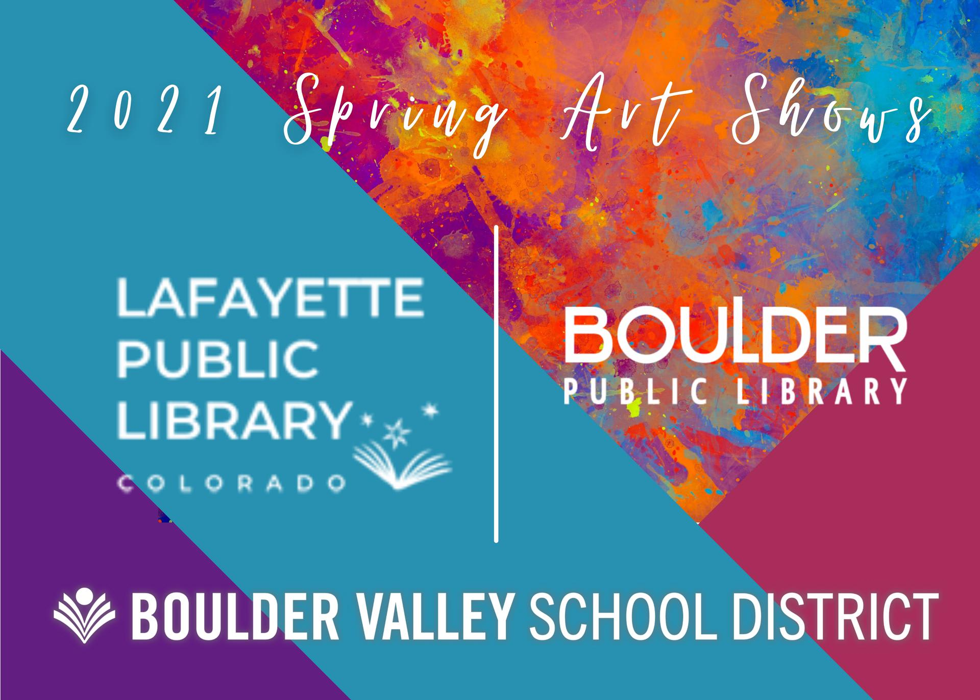 2021 Spring Art Shows- Lafayette and Boulder Libraries