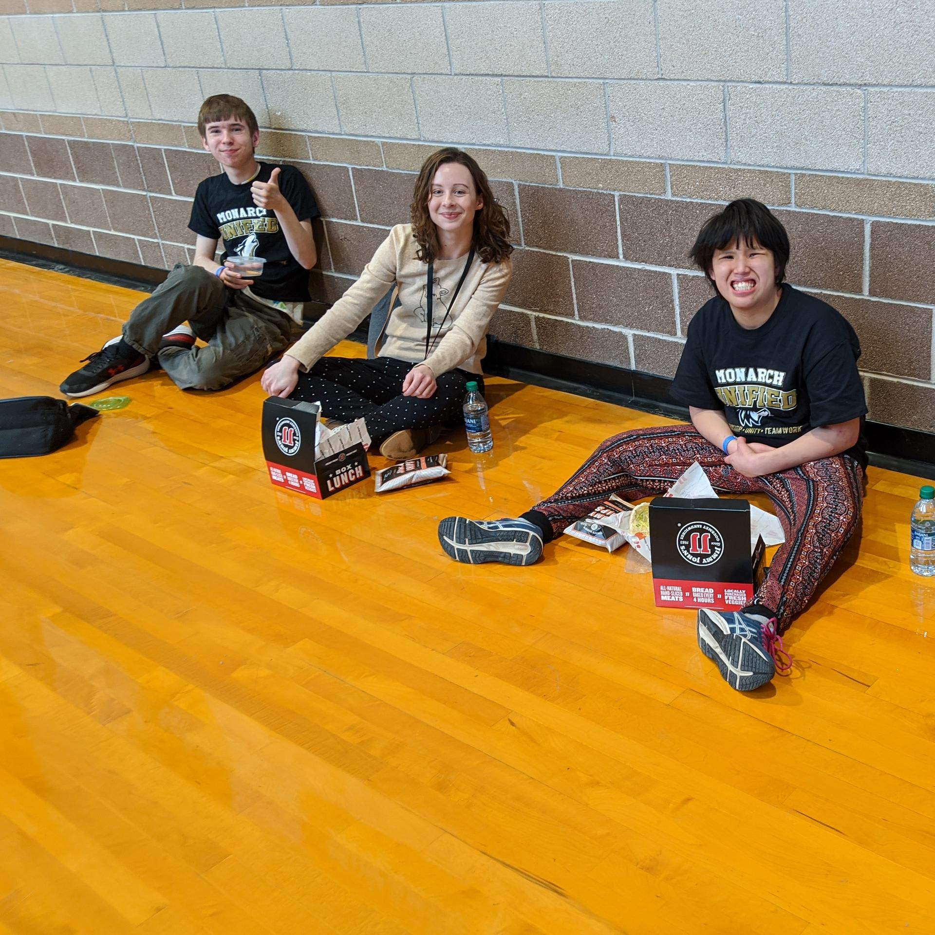 students at unified ninja event