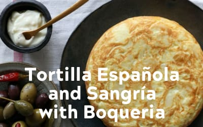 Tortilla espanola and sangria
