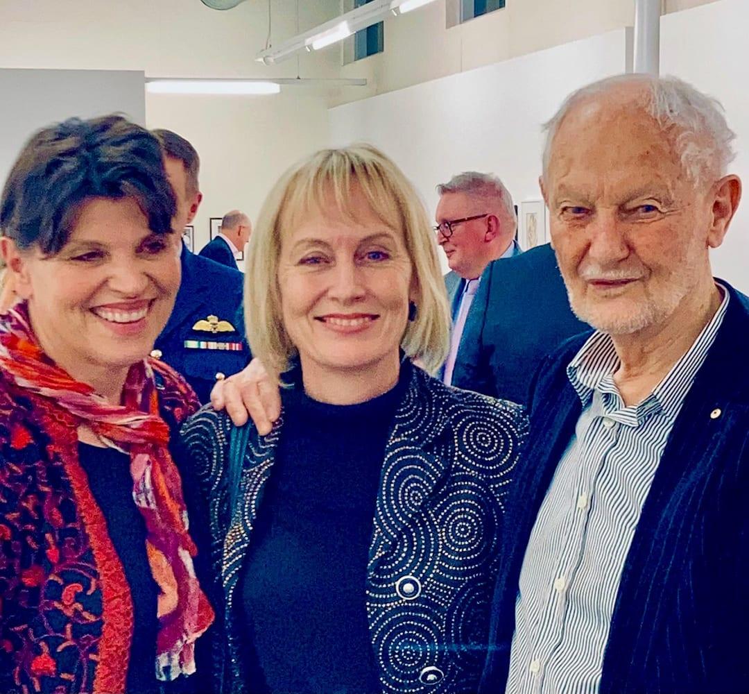Slavica Zivkovic and Kristie Phelan with Les