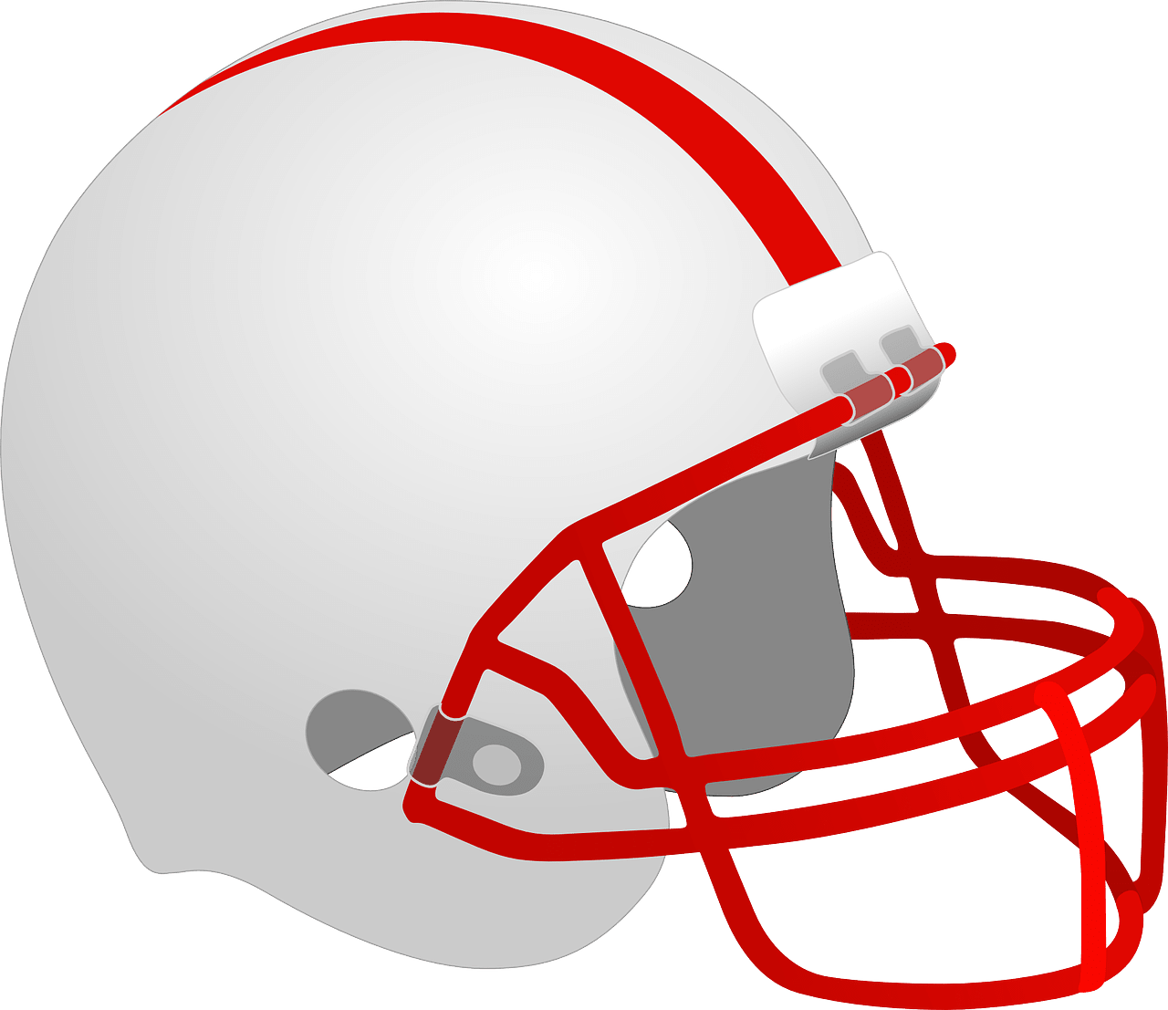 white with red football helmet