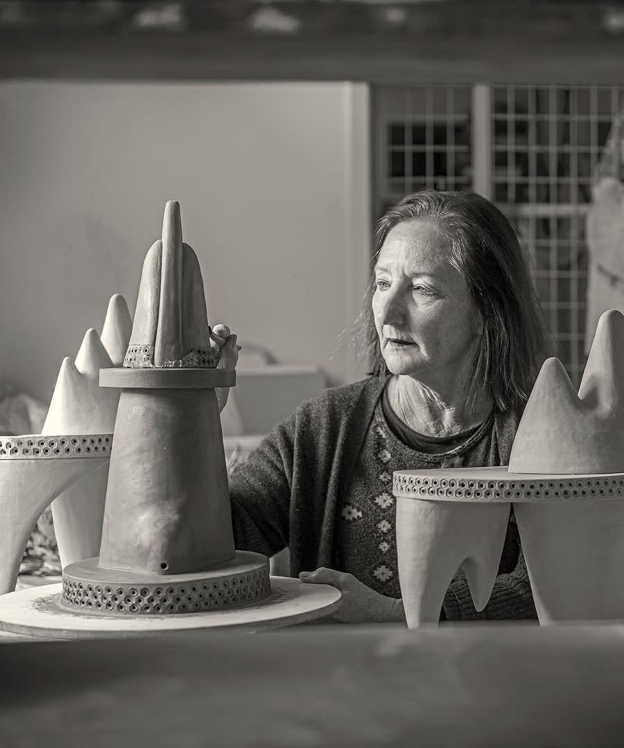 Dr Julie Bartholomew at Sturt Pottery