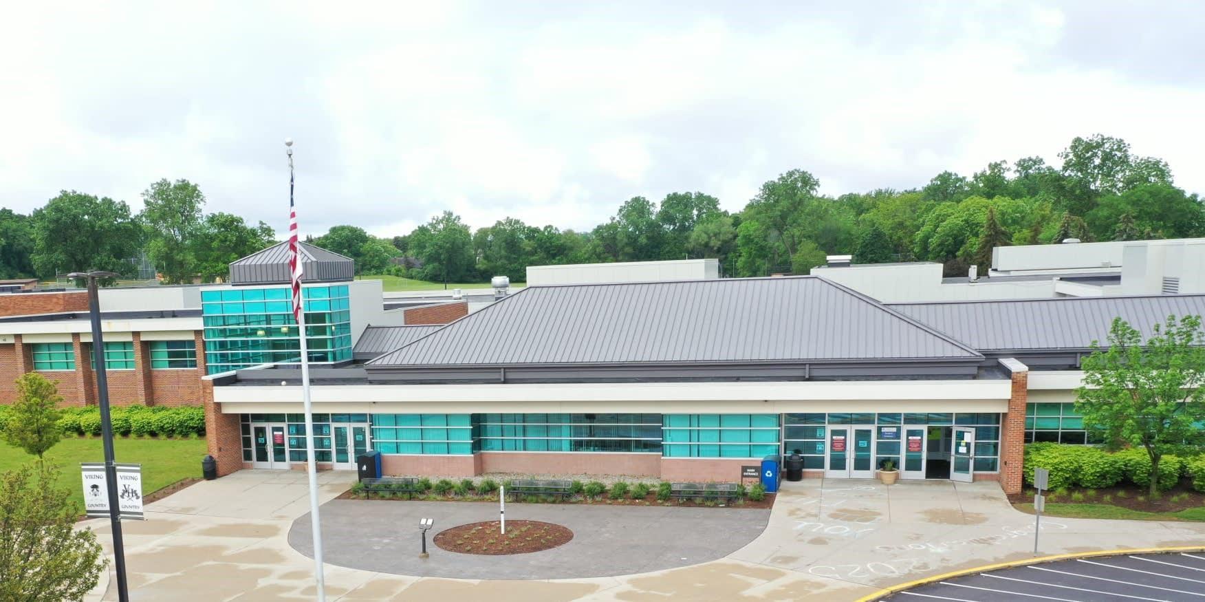 Van Hoosen Middle School Front Entrance