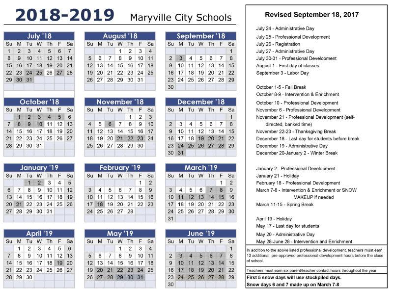 2018 19 calendar print ready