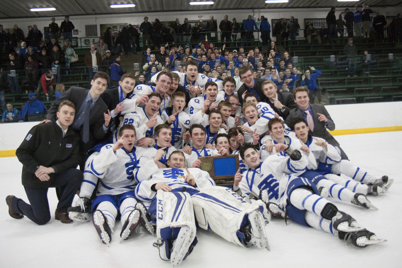 Cadet Hockey section final champion celebration