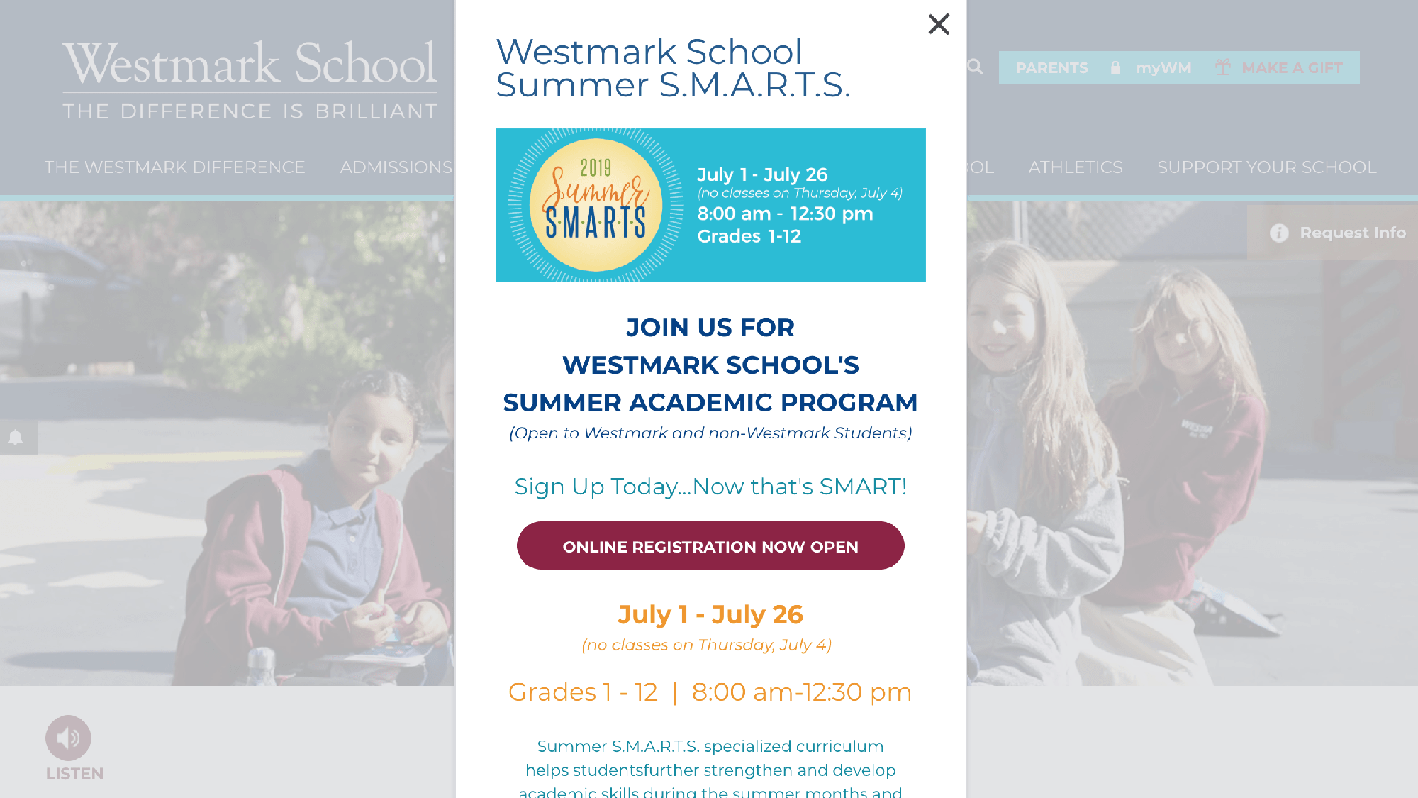 Best Page Pop Winner Westmark School (CA)