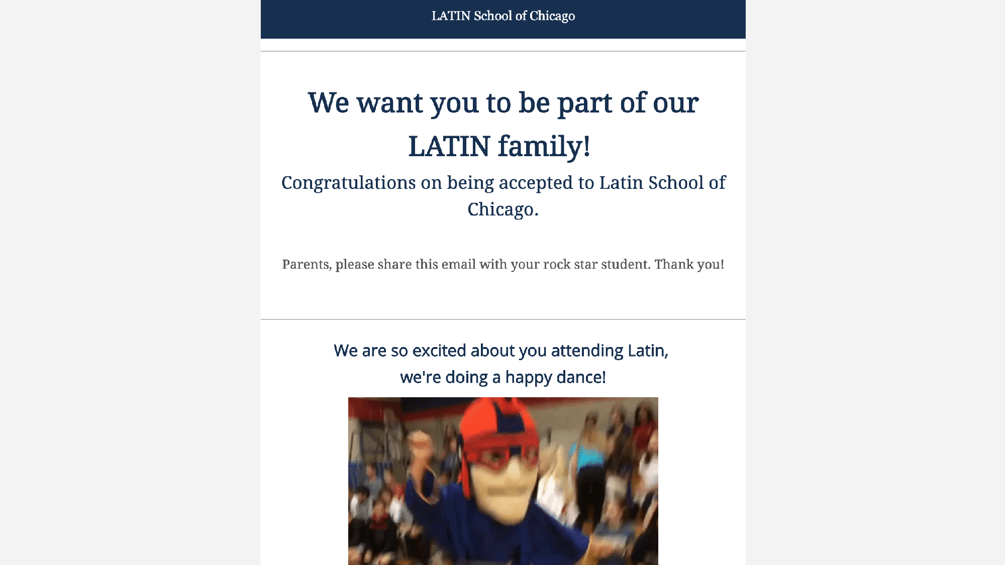 Best Message or eNotice Award Winner Latin School of Chicago (IL)