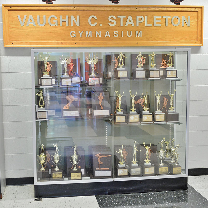 High School Trophy Case
