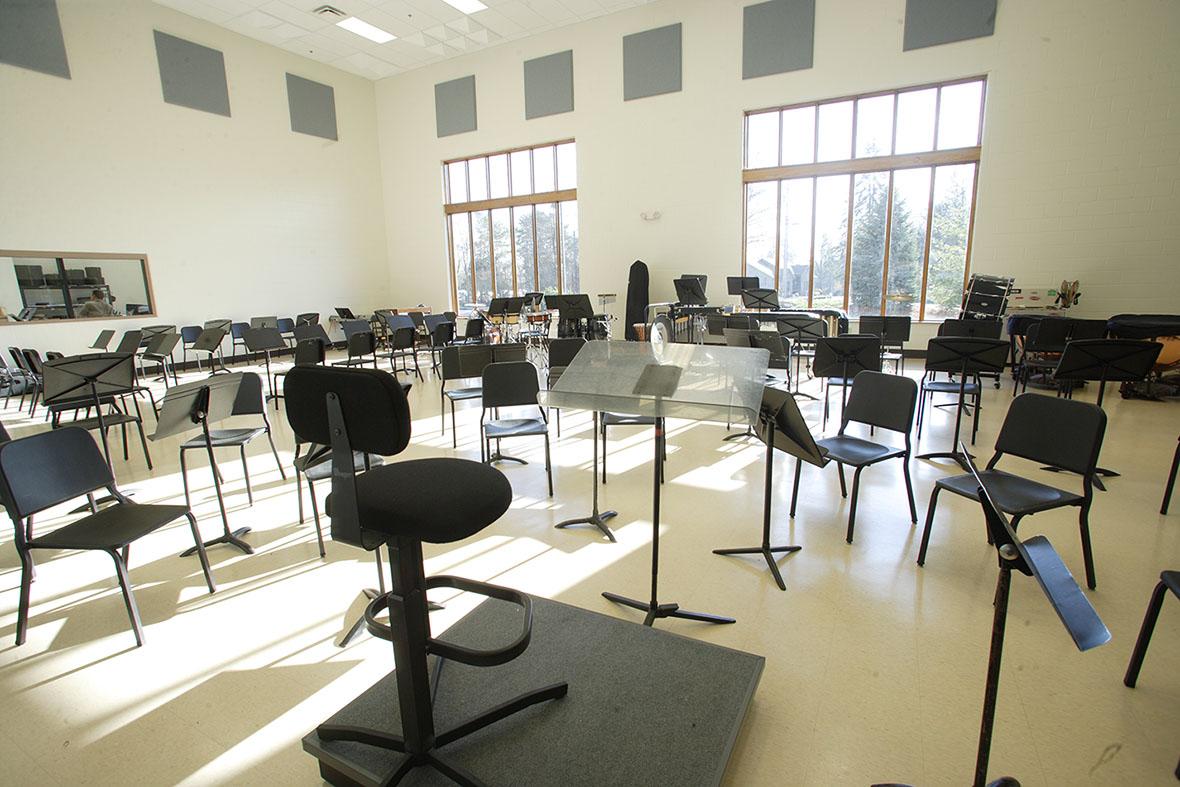 MSL instrumental rehearsal room