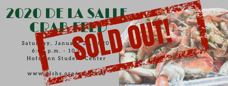 2020 De La Salle Crab Feed Sold Out