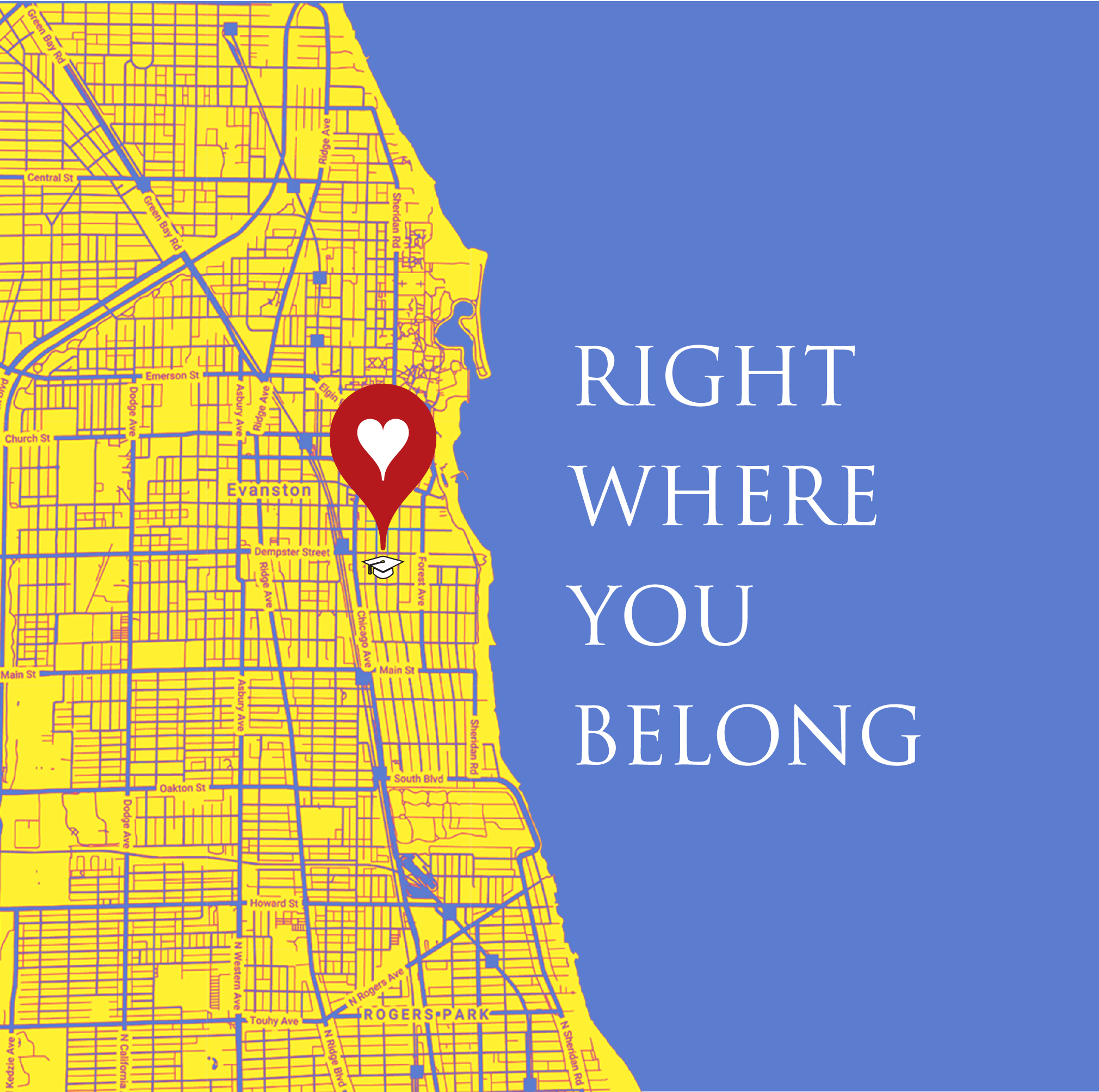 RIGHT WHERE YOU BELONG Logo