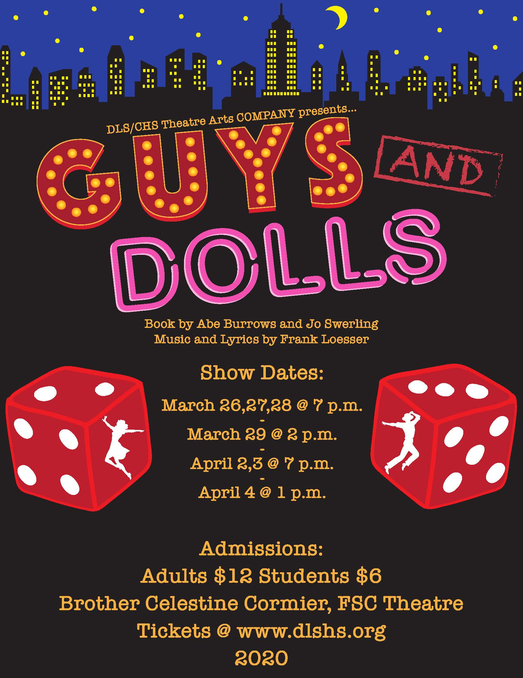 2020 Spring Musical - Guys and Dolls Poster