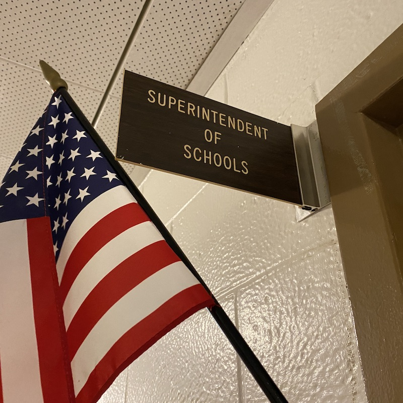 Superintendent Door Post Sign